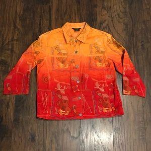 Vintage Multiples multi colored embroidered jacket